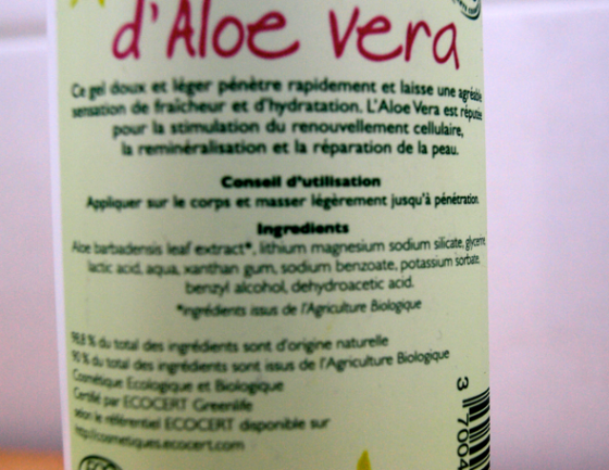 Gel Aloe Vera Belle&Bio
