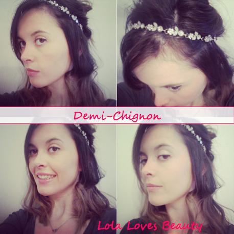 Demi chignon headband