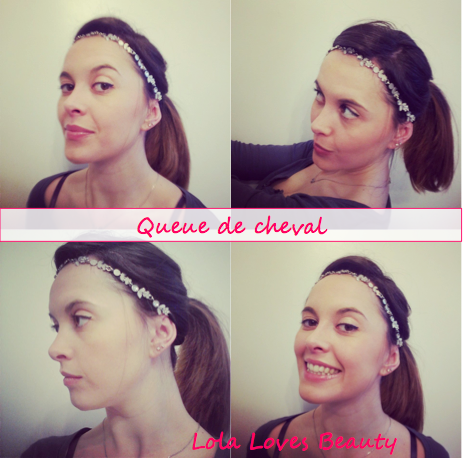 Queue de cheval headband
