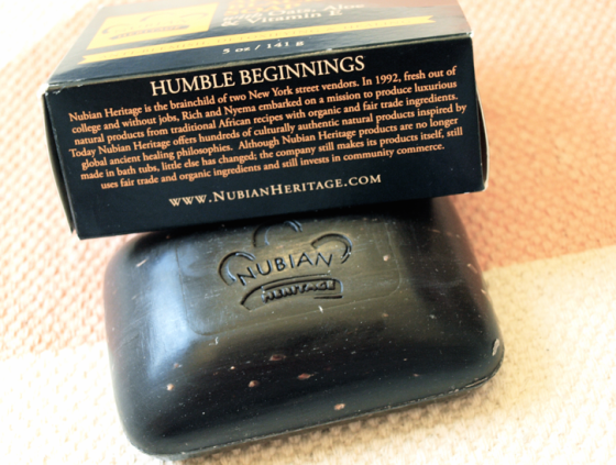 Nubian heritage black soap