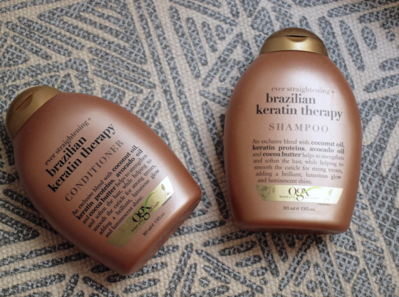 OGX Keratin shampoo and conditionner